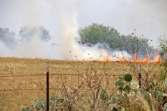 providing Mutual aid at a grass fire